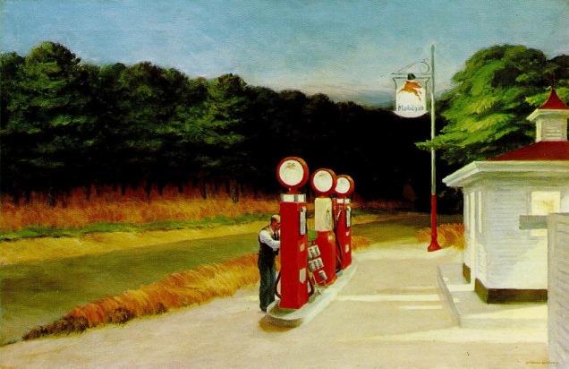"""""""Gas"""", Edward Hopper"""