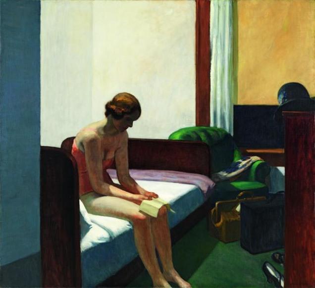 """Hotel Room"", Edward Hopper"