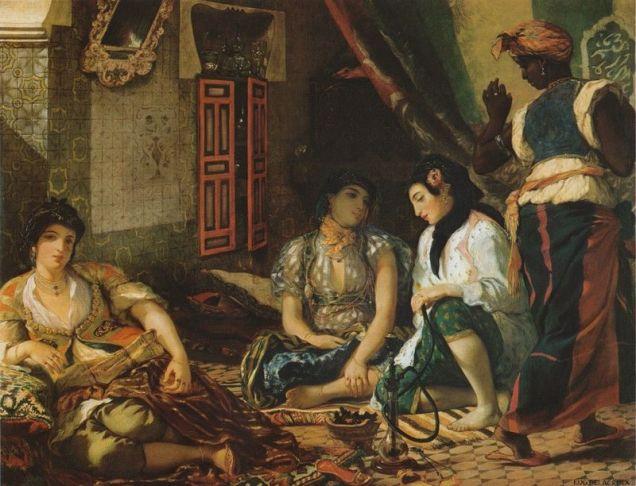 """Women of Algiers in Their Apartment"" Eugene Delacroix"